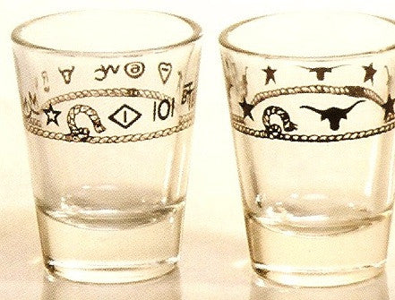 2 OZ. Western Jigger Glasses - 4 Piece Set