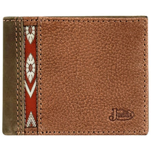 Load image into Gallery viewer, Justin Men's Bi-Fold Wallet with Red Ribbon
