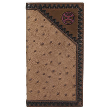 Load image into Gallery viewer, Hooey Rodeo Wallet with Tan Ostrich Leather