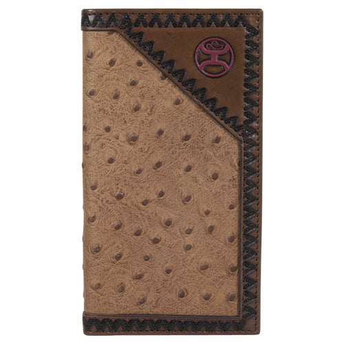Hooey Rodeo Wallet with Tan Ostrich Leather