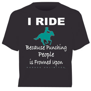 """Punching"" Horses Unlimited Western T-Shirt"