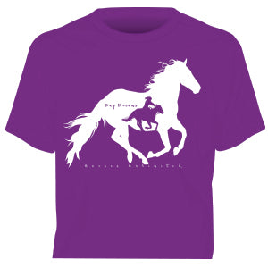 """Day Dreams"" Horses Unlimited Western T-Shirt"
