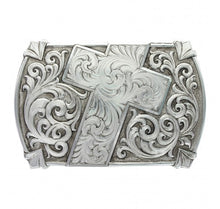 "Load image into Gallery viewer, ""Walk of Faith"" Antiqued Belt Buckle"