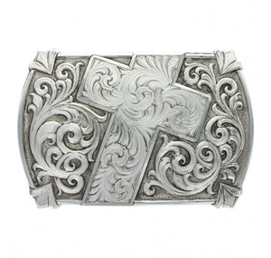 """Walk of Faith"" Antiqued Belt Buckle"