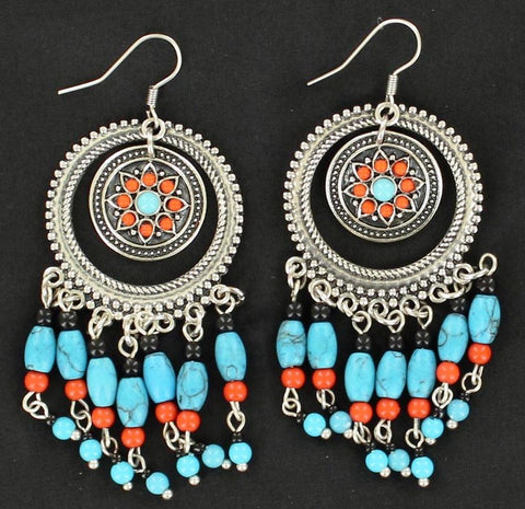 Aztec Style Dangle Earrings