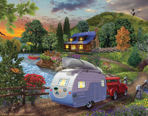 """Campers Coming Home""  500 Pc  Jigsaw Puzzle"