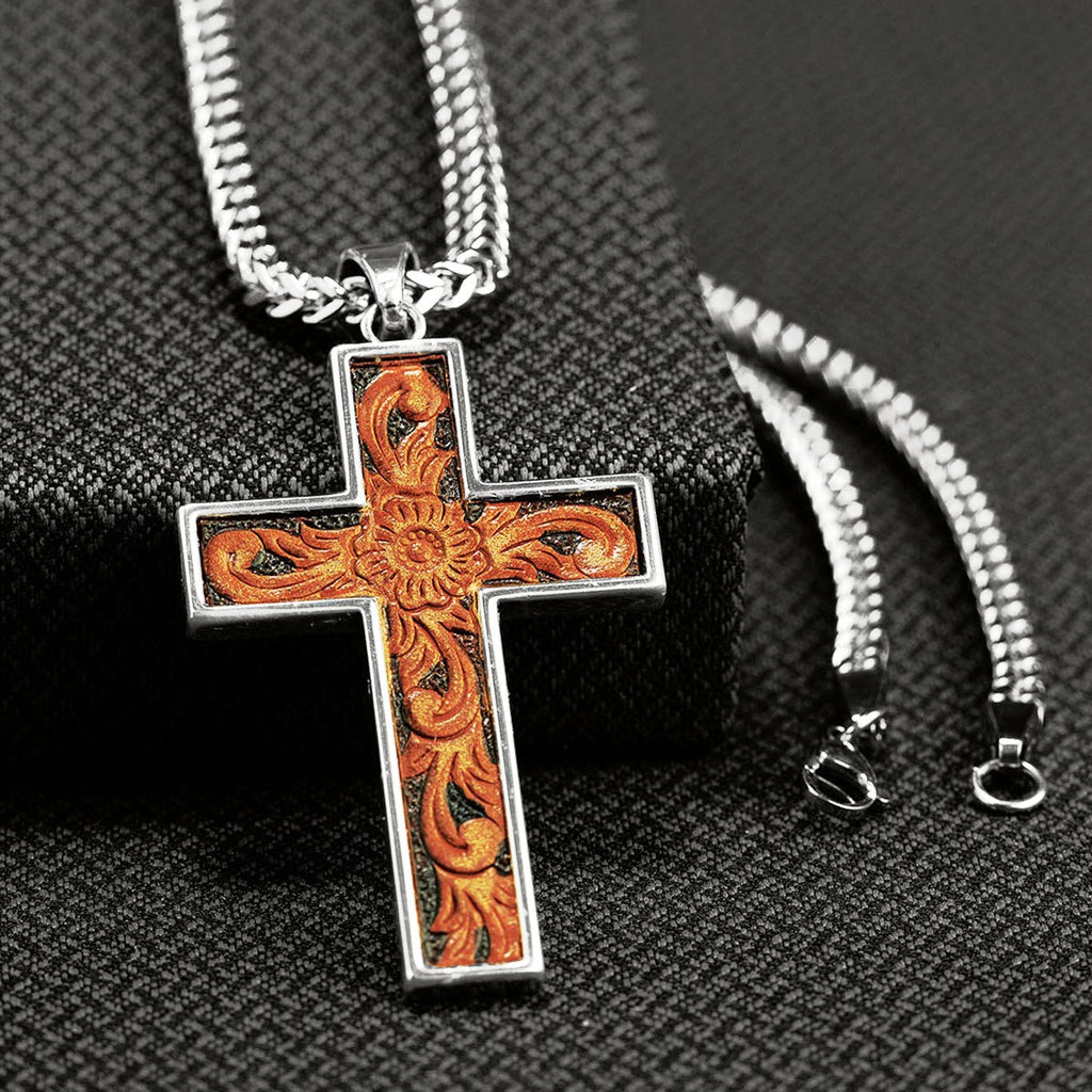 Men S Western Scrolled Cross Necklace Wild West Living