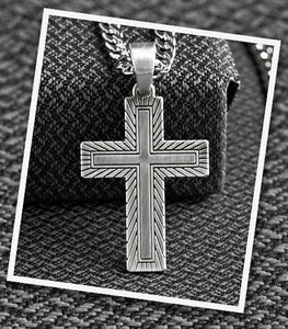 Men's Twister Gold & Silver Cross Necklace