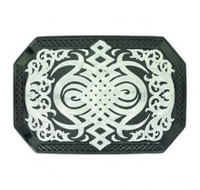 Load image into Gallery viewer, Gunmetal Western Celtic Knot Belt Buckle