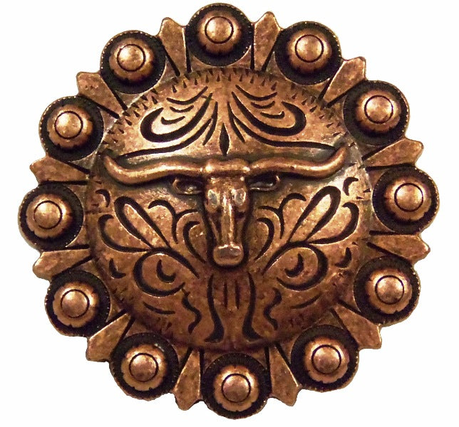Steer Berry Concho Cabinet Pull