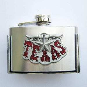 Texas Longhorn Flask Buckle - 3 oz