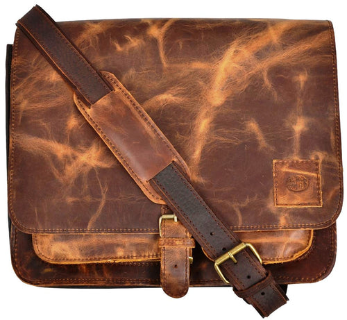 (3DB-BC164) Western Chocolate Brown Leather Briefcase