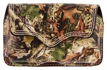 (3DB-BPH22) Western Camo Leather Cell Phone Holder for iPhone 4 and Blackberry with Swivel Clip