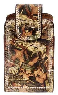 (3DB-BPH26) Western Camo Leather Cell Phone Holder for iPhone 4 and Blackberry