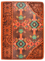 (3DB-G313) Western Tooled & Aztec Print iPad® Air Cover