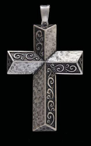 (3DB-PD1007) Western Antique Silver Cross Pendant