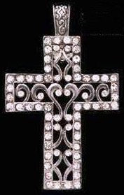 (3DB-PD2080) Western Silver Cross Pendant