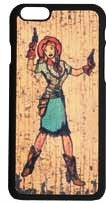 "(3DB-PH060) ""Annie Oakley"" Western Snap-On Case for iPhone 6"