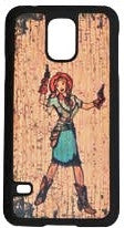 "(3DB-PH069) ""Annie Oakley"" Western Snap-On Case for Samsung Galaxy S5"