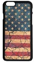 (3DB-PH070) Distressed American Flag Snap-On Case for iPhone 6