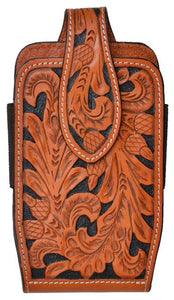 (3DB-PH656) Western Natural Tooled Cell Phone Holder for iPhone 6+