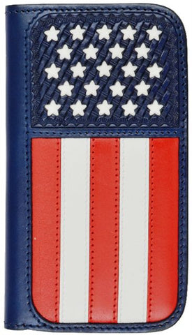(3DB-PH777) Red/White/Blue Wallet/Cell Phone Case for Samsung Galaxy S4