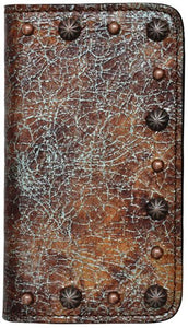 (3DB-PH907) Western Turquoise & Brown Cell Phone Case/Wallet for Samsung Galaxy S®4