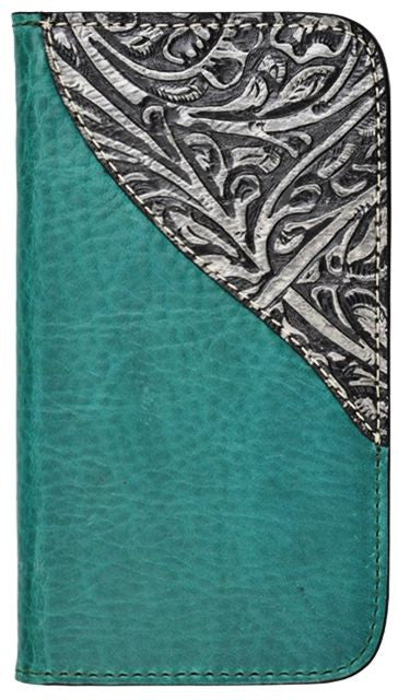(3DB-PH917) Western Teal Cell Phone Case/Wallet for Samsung Galaxy S4