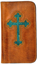 Load image into Gallery viewer, (3DB-PH937) Honey & Turquoise Cross Cell Phone Case/Wallet for Samsung Galaxy S®4