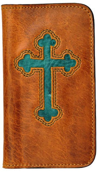 (3DB-PH937) Honey & Turquoise Cross Cell Phone Case/Wallet for Samsung Galaxy S®4