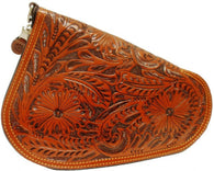 (3DB-PI101) Western Tan Tooled Pistol Case - Small