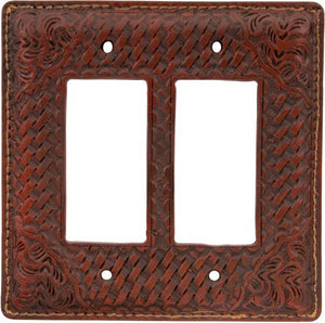 (3DB-SP541) Western Tan Resin Double Rocker Plate