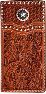 (3DB-W283) Natural Western Rodeo Wallet with Star Concho