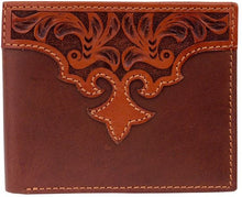 Load image into Gallery viewer, (3DB-W997) Western Tan Tooled Bi-Fold Wallet