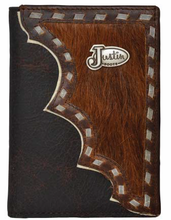 Load image into Gallery viewer, (3DB-WJB151) Western Dark Brown & Hair-On Bi-Fold Wallet by Justin