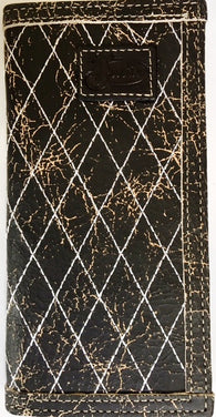 (3DB-WJB220) Justin Black Crackled Rodeo Wallet