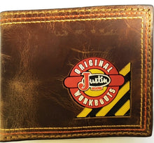 Load image into Gallery viewer, (3DB-WJW094) Justin Western Brown Leather B-Fold Wallet