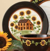 """Sunflower"" Salad Plates - Set of 4"