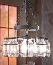 Load image into Gallery viewer, Wrought Iron Canning Jar Chandeliers