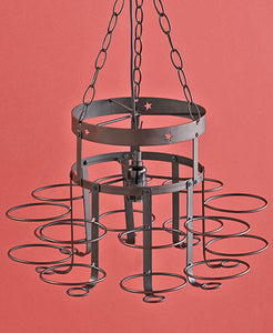Wrought Iron Canning Jar Chandeliers