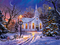 """The Old Christmas Church"" 1000 Pc  Jigsaw Puzzle"