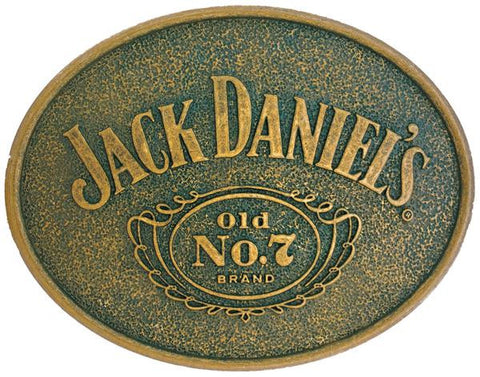 Jack Daniels Old No. 7 Silver Belt Buckle Burnished Bronze