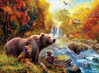 """Bears at the Stream"" 1000 Pc  Jigsaw Puzzle"