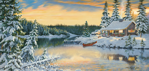 """Cabin on the River"" 1000 Pc  Jigsaw Puzzle"