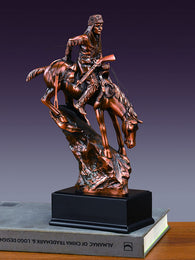 Mountain Man and Horse Sculpture