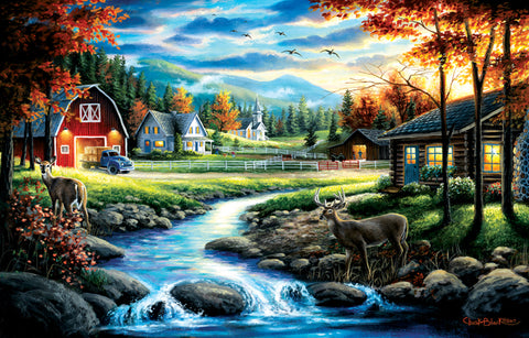 """Country Sunday"" 1000 Pc  Jigsaw Puzzle"