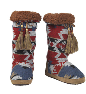 """Ava"" Ladies' Slippers with Aztec Design"