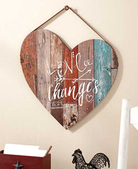 """Love Changes Everything"" Heart Wall Plaque"