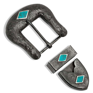 Midnight's Blue Diamond Buckle Set