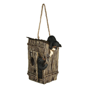 Bears Outhouse Birdhouse